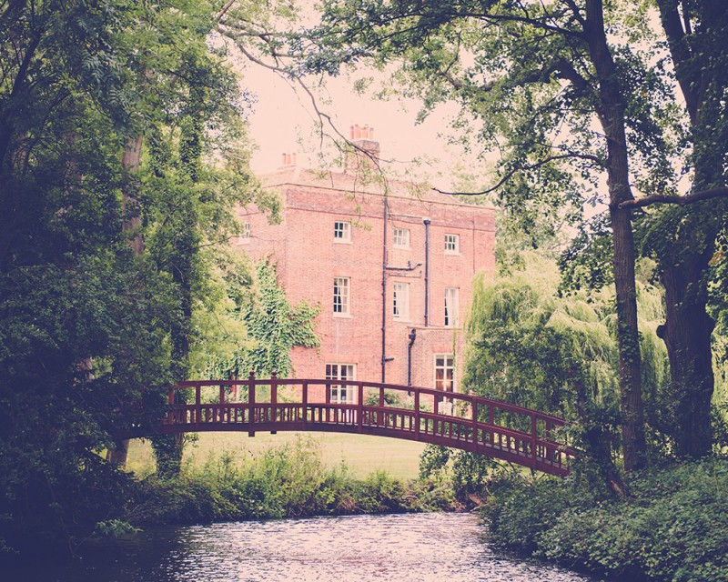 Mulberry House bridge and trees