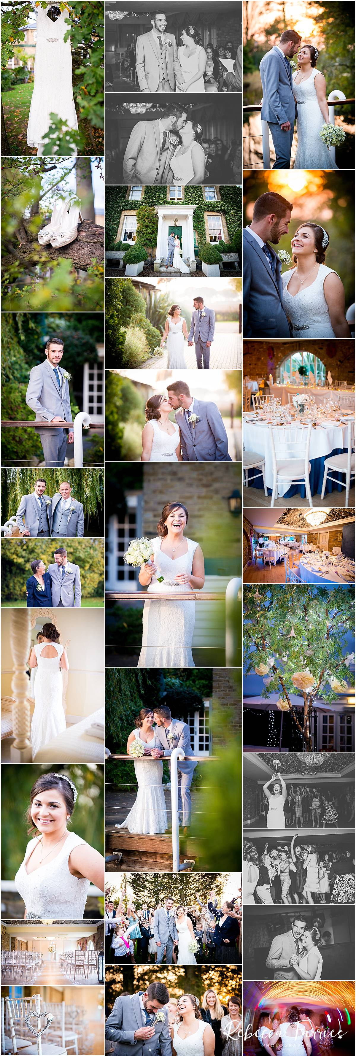 Wedding photography collage of couple at Friern Manor