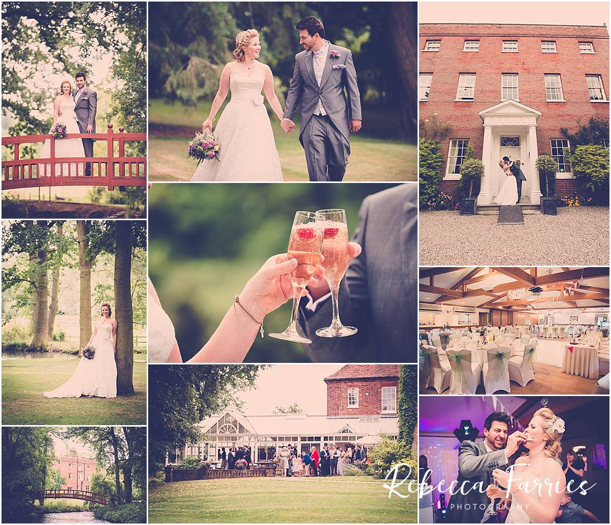 Wedding photography collage mulberry house