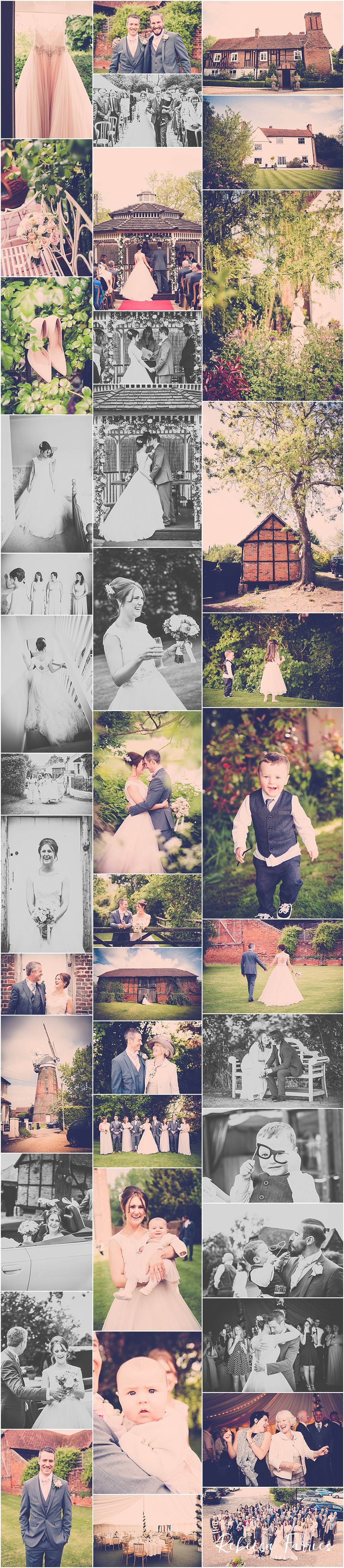Wedding Photography Collage from Newland Hall in Essex