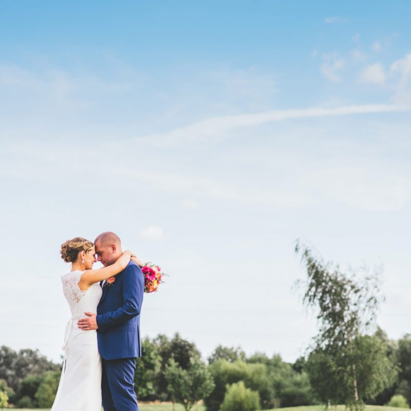 bride and groom at the rayleigh club in Essex